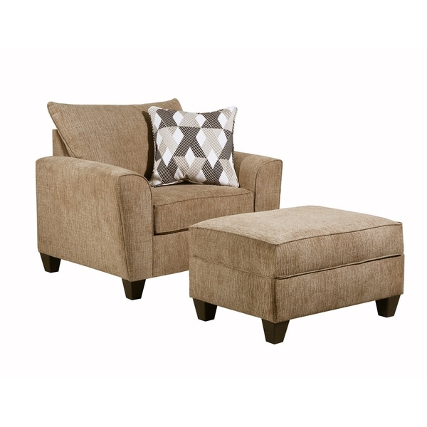Beau Simmons Upholstery Reed Tan Storage Ottoman