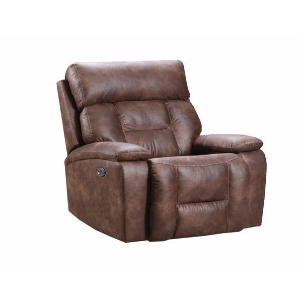 Shop Simmons Upholstery Dorado Walnut Power Cuddler