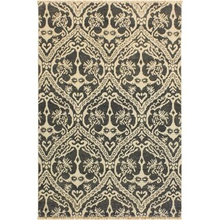 Nabila Modern Enedina Gray/Ivory Wool Area Rug - 4 ft. 0 in. x 6 ft. 0 in.