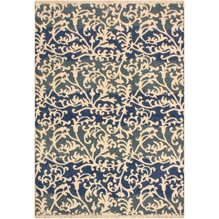 Niamh Modern Elvie Gray/Ivory Wool Area Rug - 5 ft. 1 in. x 7 ft. 4 in.