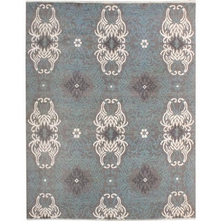 Elisora Modern Corinna Gray/Ivory Wool Area Rug - 8 ft. 0 in. x 10 ft. 1 in.