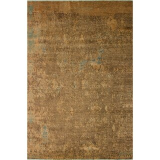 Modern Abstract Galaxy Kayce Tan/Brown Area Rug (8'0 x 9'10) - 8 ft. 0 in. x 9 ft. 10 in.