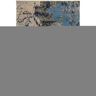 Modern Abstract Galaxy Raymond Blue/Ivory Area Rug (7'11 x 10'2) - 7 ft. 11 in. x 10 ft. 2 in.
