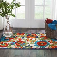 Nourison Aloha Multicolor Indoor/Outdoor Botanical Rug - 2'8 x 4'
