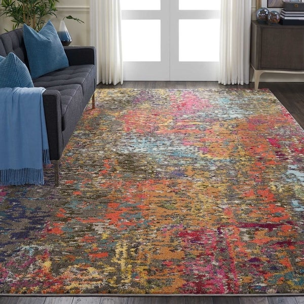 Nourison Celestial CES14 Abstract Area Rug. Opens flyout.