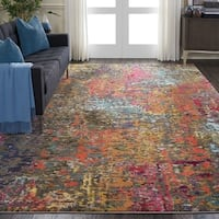 "Nourison Celestial Abstract Multicolor Rug - 7'10"" x 10'6"""