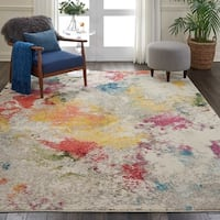 "Nourison Celestial Ivory/Multicolor Abstract Area Rug - 7'10"" x 10'6"""