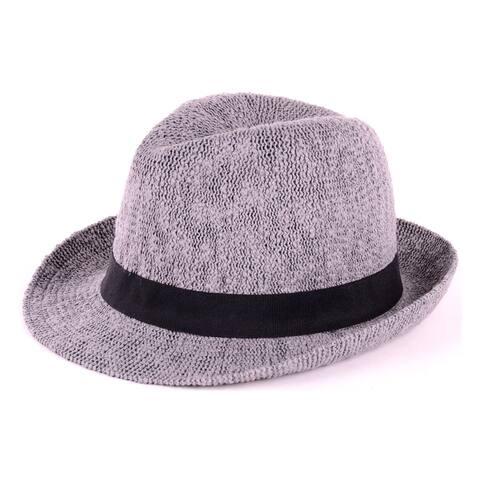 5cfaed55699 BYOS Fashion Boho Summer Straw Panama Fedora Sun Hat Wide Brim, Various  Styles (Solid