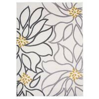 "OSTI Contemporary Modern Large Floral Cream Area Rug - 7'10"" x 10'"