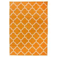 OSTI Orange Modern Moroccan Trellis Area Rug (7'10 x 10')