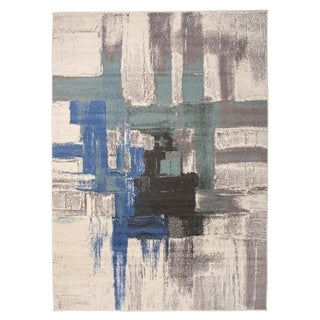 "Contemporary Modern Abstract Area Rug Blue - 3'3"" x 5'"