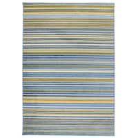 Modern Stripes Blue/Multicolor Area Rug - 7'10 x 10'