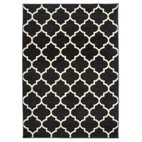 OSTI Modern Moroccan Trellis Black Area Rug (7'10 x 10')
