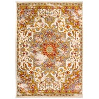 Traditional Oriental Distressed Rug Cream - 2' x 3'