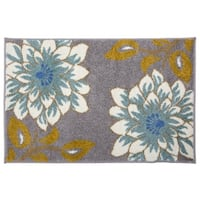 Transitional Large Floral Rug Gray - 2' x 3'