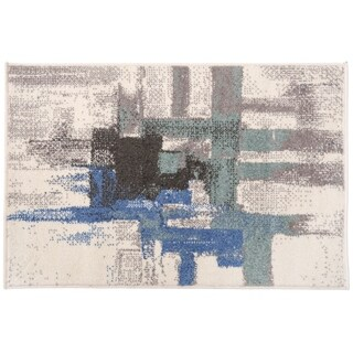 Contemporary Modern Abstract Rug Blue - 2' x 3'