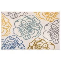 Transitional Modern Large Floral Rug Cream - 2' x 3'