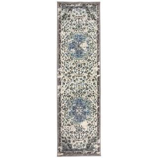 Traditional Oriental Distressed Runner Rug Gray - 2' x 7' Runner
