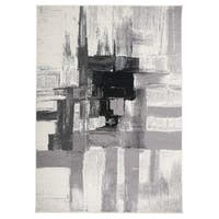 Contemporary Modern Abstract Area Rug Black - 3'3 x 5'