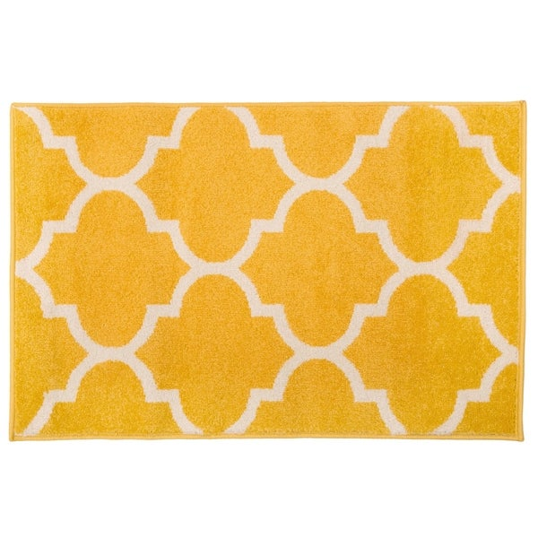 Modern Moroccan Trellis Rug Yellow - 2' x 3'