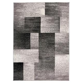 Modern Geometric Boxes Area Rug Gray - 5' x 7'