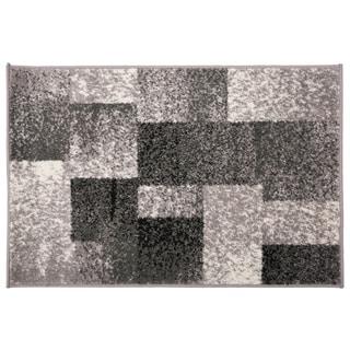 Modern Geometric Boxes Rug Gray - 2' x 3'