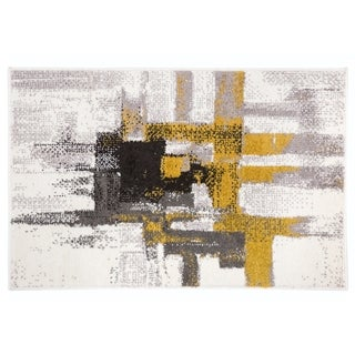 Contemporary Modern Abstract Rug Gold - 2' x 3'