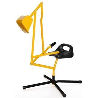 Metal Sand Digger Toy Crane for Sandbox - Yellow