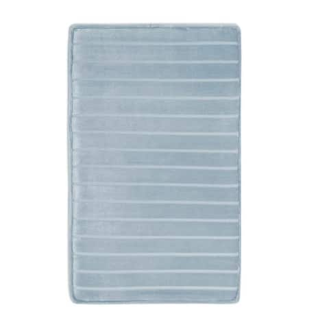 MICRODRY SoftLux Memory Foam Bath Rug, with Charcoal Infused Memory Foam and GripTex Skid Resistant base 21 x 34