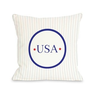USA Pinstripes  Pillow by OBC