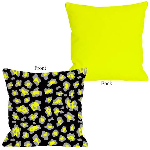 Gabriella Cheetah Neon - Yellow Pillow by OBC