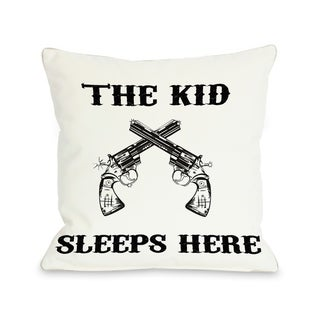 The Kid Sleeps Here - White Black  Pillow by OBC