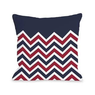 Chevron Solid American  Pillow by OBC