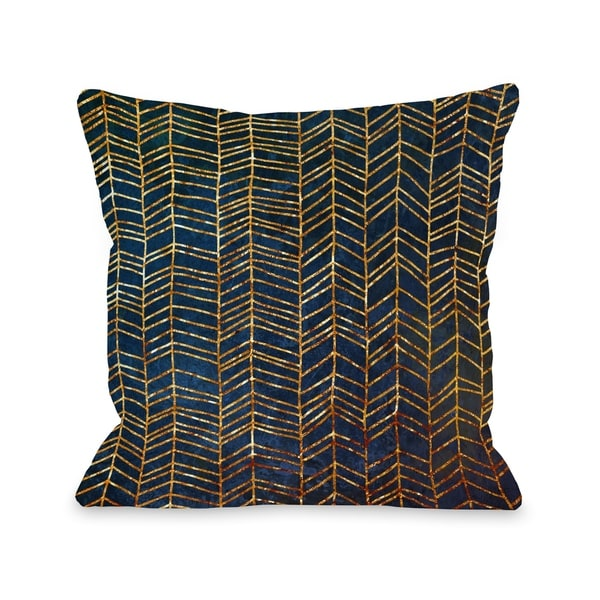 Isabella - Navy Gold Pillow by OBC
