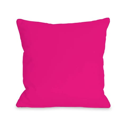 Solid - Hot Pink - Pillow by OBC