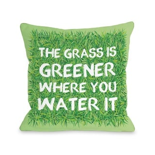 Grass Is Greener - Green  Pillow by OBC