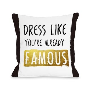 Already Famous - Black White  Pillow by OBC