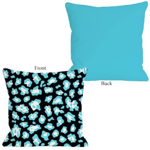 Gabriella Cheetah Neon - Blue Pillow by OBC
