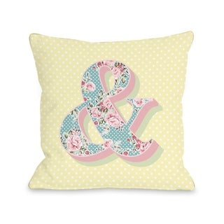 Ampersand Floral - Yellow Multi  Pillow by OBC