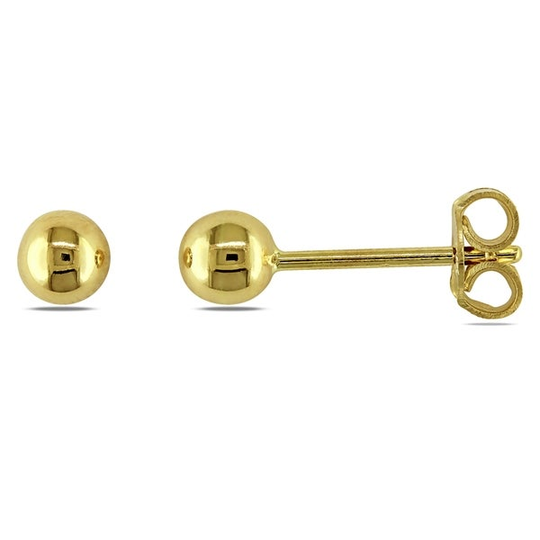 Miadora 18k Yellow Gold Children X27 S Ball Stud Earrings