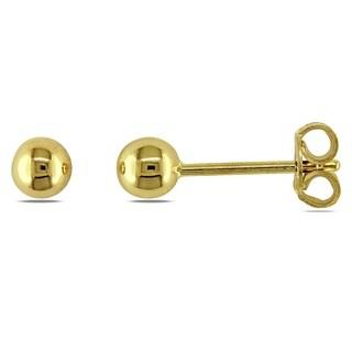 Miadora Signature Collection 14k Yellow Gold 1/10ct TDW Diamond Children's Hoop Earrings