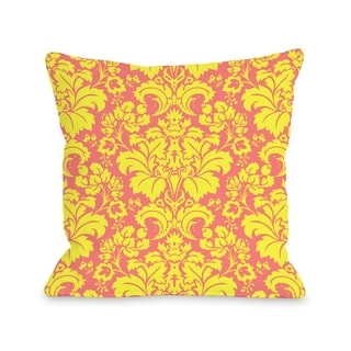 Altair Fleur - Pink Yellow  Pillow by OBC