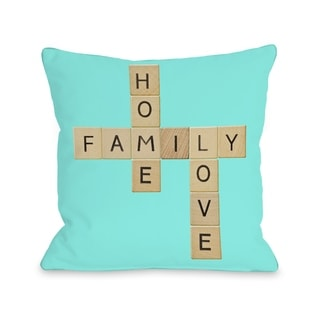 Family Pieces - Turquoise  Pillow by OBC