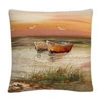 Rio 'Florida Sunset' 16 X 16 Decorative Throw Pillow