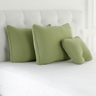 Joy Mangano S/3 Cool Side, Warm Side, Memory Foam Pillows Greenery