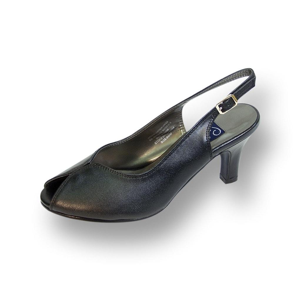 ec58158ead1 Shop PEERAGE Zara Women Extra Wide Width Peep Toe Mid Heel Pump with Buckle  - Free Shipping Today - Overstock - 21867736