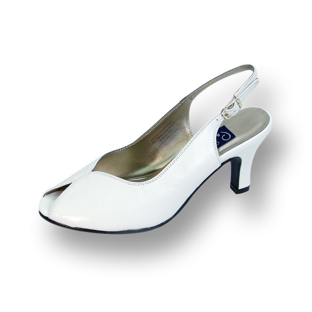 52703d07e9f Shop PEERAGE Zara Women Extra Wide Width Peep Toe Mid Heel Pump with Buckle  - Free Shipping Today - Overstock - 21867736