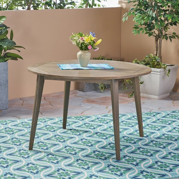 Shop Stamford Outdoor Acacia Dining Table By Christopher