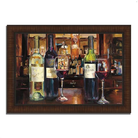 """""""A Reflection of Wine"""" by Marilyn Hageman, Framed Painting Print"""