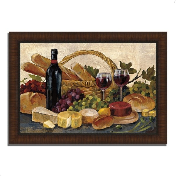 """Tuscan Evening Wine"" by Silvia Vassileva, Framed Painting Print"